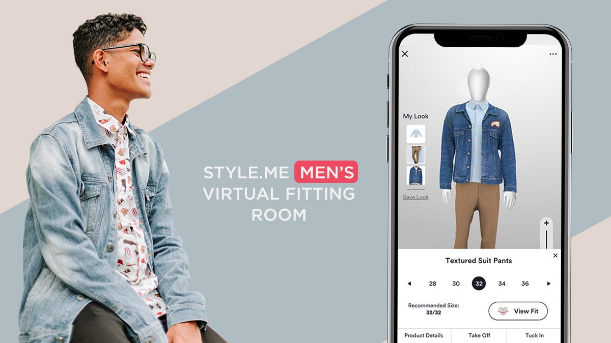 virtual fitting room for men