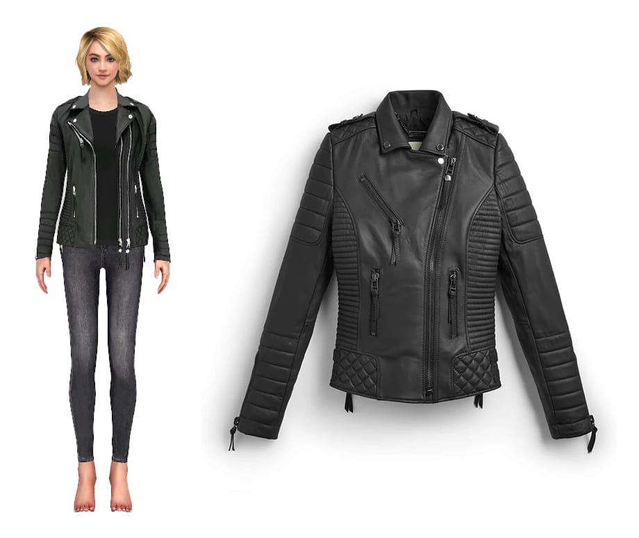 Boda Skins leather jacket with virtual model