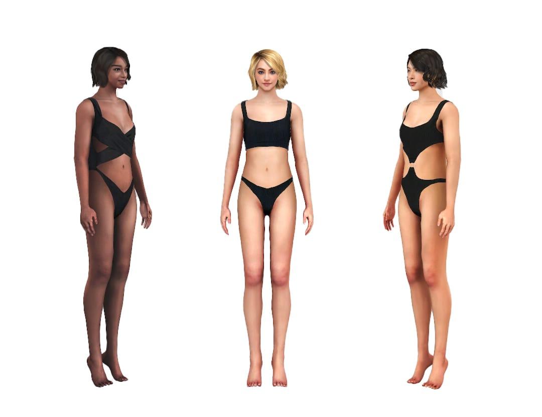 Swimwear virtual fitting avatars