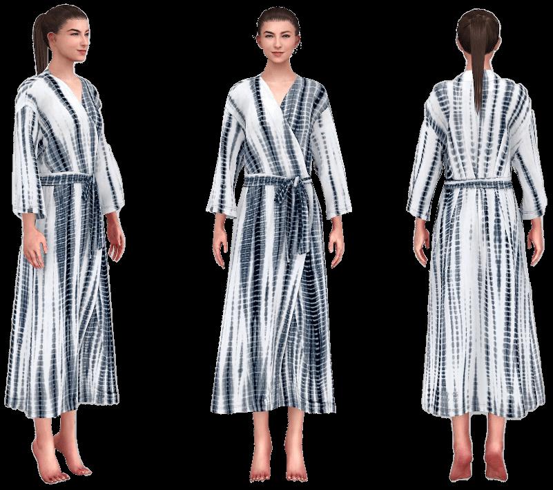 virtual avatars wearing robes